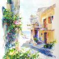 "Small street. Sperlonga. From the ""Blue Italy"""