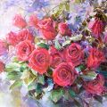 Carmine roses