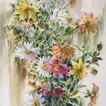 Картина Цветы палисадника