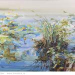 Картина Белое озеро